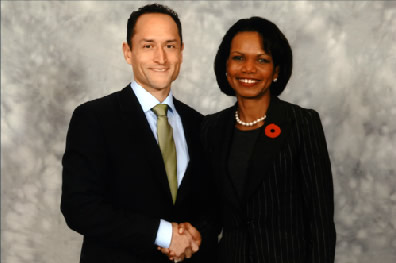 Larry Maher, Secretary of State Condoleeza Rice