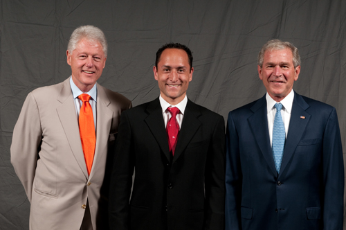 President Bill Clinton, Larry Maher, President George W. Bush